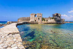 Methoni Venetian Fortress in Messenia, Greece. Stock Photography