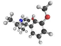 Methoxetamine (MXE) recreational designer drug. Molecular model of methoxetamine (MXE), a recreational designer drug Stock Images