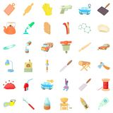 Metier icons set, cartoon style Stock Photo