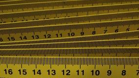 Metingsmateriaal Nauwkeurige de heersersclose-up van de maatregelencentimeter Stock Fotografie