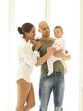 Metis young family Royalty Free Stock Image