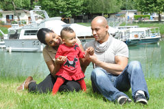 Metis young family Stock Image
