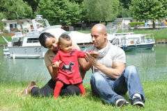 Metis young family Royalty Free Stock Images