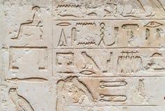 Metjetji με την κόρη και το γιο του με αιγυπτιακά hieroglyphs Στοκ Φωτογραφίες