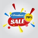 Metka dla sprzedaży promoci ilustracja wektor