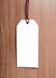 Metka na drewnianym tle pusta etykiety Fotografia Royalty Free