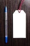 Metka na drewnianym tle pusta etykiety Obraz Royalty Free
