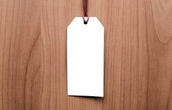 Metka na drewnianym tle pusta etykiety Zdjęcia Royalty Free