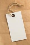 Metki etykietka przy papierem Zdjęcie Royalty Free