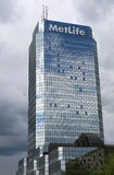 MetLife American Insurance Company with rain clouds reflections Stock Photo
