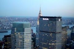 Metlife som bygger NYC royaltyfri foto