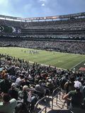 MetLife Stadium. MetLife Stadium home of the New York Jets located in East Rutherford New Jersey. This is a regular season NFL game being played royalty free stock image