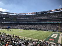 MetLife Stadium. MetLife Stadium home of the New York Jets located in East Rutherford New Jersey. This is a regular season NFL game being played stock images