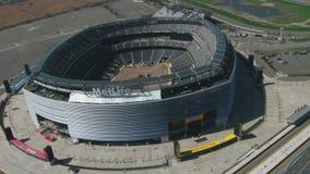 Metlife stadium under construction aerial. Video of metlife stadium under construction aerial stock video