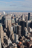 Metlife und Chrysler-Gebäude-New- YorkStadtbild Stockbild