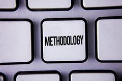 Metodologia del testo di scrittura di parola E fotografie stock