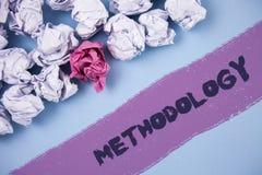 Metodologia do texto da escrita da palavra O conceito do negócio para o sistema de métodos usados em um estudo ou em uma atividad Fotografia de Stock Royalty Free