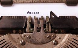 Metoo как новое движение всемирно - против домогательства женщин Стоковая Фотография