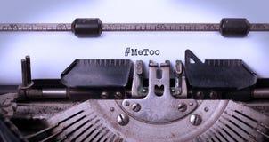 Metoo как новое движение всемирно - против домогательства женщин Стоковое Фото
