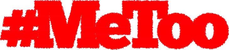 MeToo 2D teksta slogan zdjęcia stock