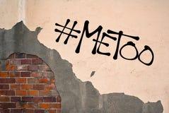 MeToo/me ugualmente graffiti fotografia stock libera da diritti