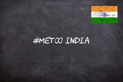 METOO movement in India started against sexual abuse at work place. stock images