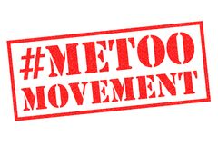 METOO MOVEMENT Rubber Stamp. METOO MOVEMENT red rubber stamp over a white background Stock Image
