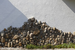 The metope of cobble mosaic Stock Photography