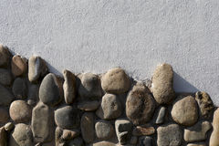 The metope of cobble mosaic Stock Images