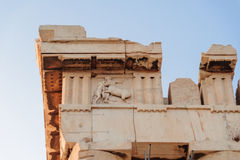 Metope de Centauromachy do Partenon foto de stock