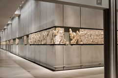 Metopes del nivel 3 del museo de la acrópolis Imágenes de archivo libres de regalías