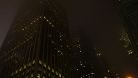 Metrópole de aparecimento na noite Fotos de Stock