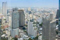 metrópole de Banguecoque, arquitetura da cidade da skyline, vista da baixa com modificação Foto de Stock
