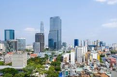 Metrópole de Ho Chi Minh City e baixa de Saigon, Vietname fotografia de stock