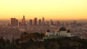 Metrópole urbana da skyline do centro clara bonita da cidade de Los Angeles video estoque