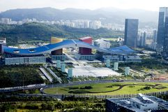 Metrópoli china - Shenzhen fotografía de archivo libre de regalías
