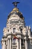 Metrópoli del edificio, Madrid Fotografía de archivo