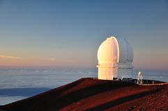 3 6 metrów Hawaje okulistyczny teleskop Obrazy Stock