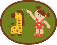 Metr жирафа иллюстрация вектора