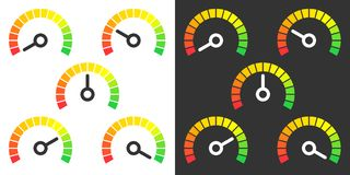 Metr podpisuje infographic wymiernika element Fotografia Stock