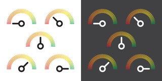 Metr podpisuje infographic wymiernika element Obrazy Stock