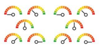 Metr podpisuje infographic wymiernika element Obraz Royalty Free
