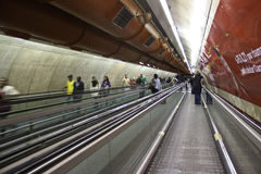 Metrô (Untergrundbahn) Anschluss- São Paulo - Brasilien Lizenzfreies Stockbild