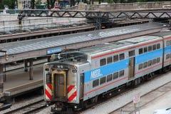 Metra Chicago Stock Photo