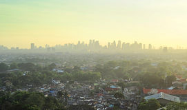 Metra Manila przedmieście Obraz Royalty Free