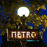 metra Paris znak Obrazy Stock