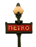 metra Paris znak Obraz Stock