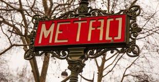 Metra Paryż znak Zdjęcia Royalty Free