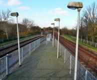 Metra railsystem w ładnym krajobrazie fotografia royalty free
