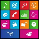 Metra stylowe sieci ikony 2 Zdjęcie Stock